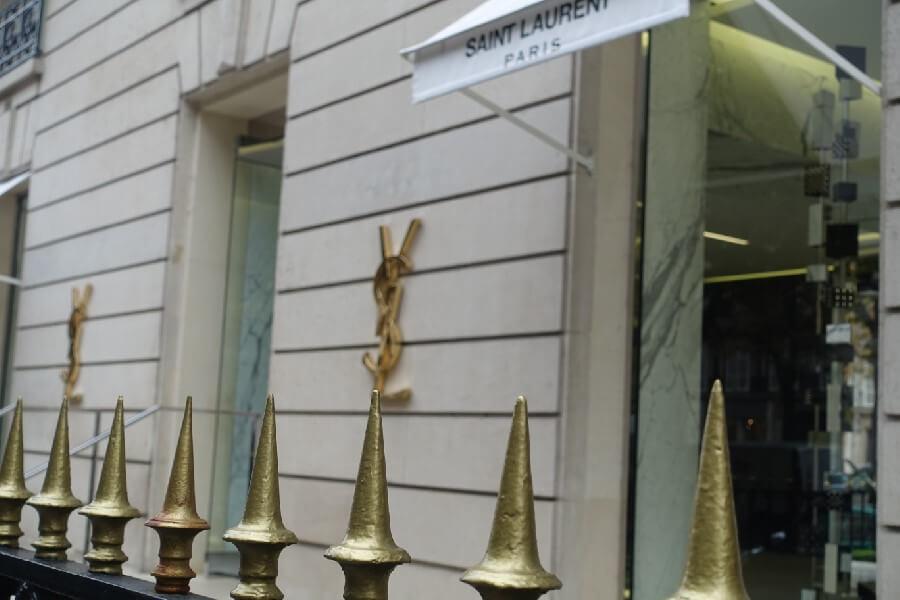Yves St Laurent boutique ave Montaigne Paris France