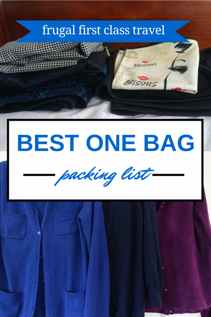 My best packing list for one bag travel