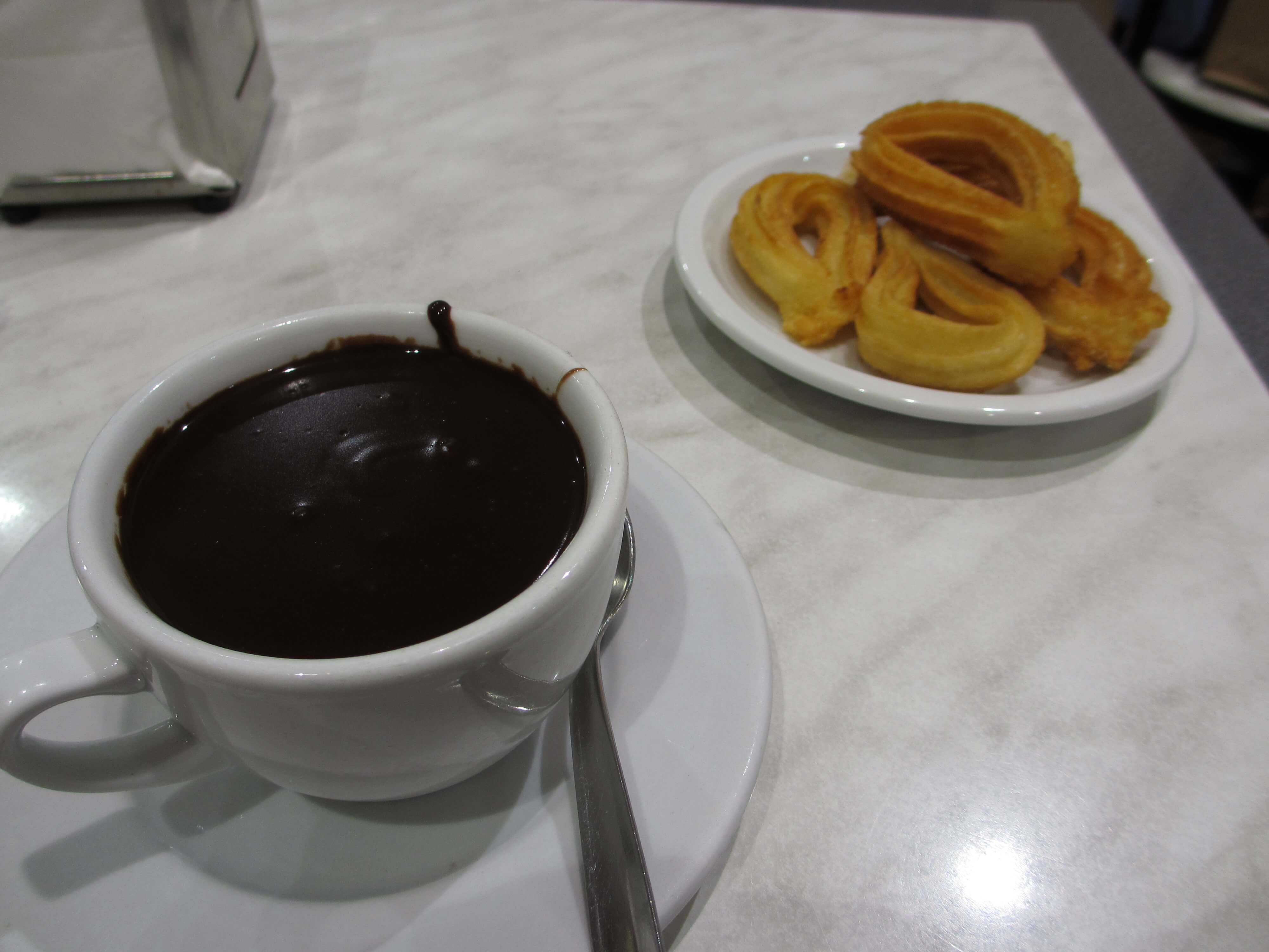Don't forget to finish with a churros and chocolate - yum!