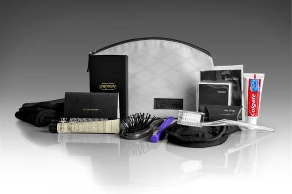 Woman's amenity kit.  Photo:  www.blog.virginaustralia.com