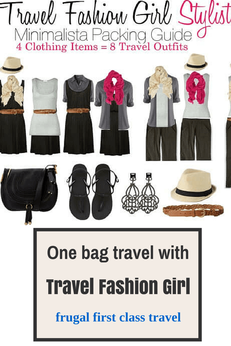 One bag travel with travel fashion girl