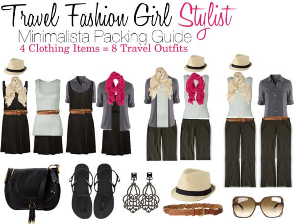 Minimalist Packing How to Mix and Match 4 clothing items