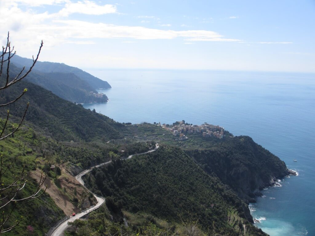 overlooking the Cinque Terre