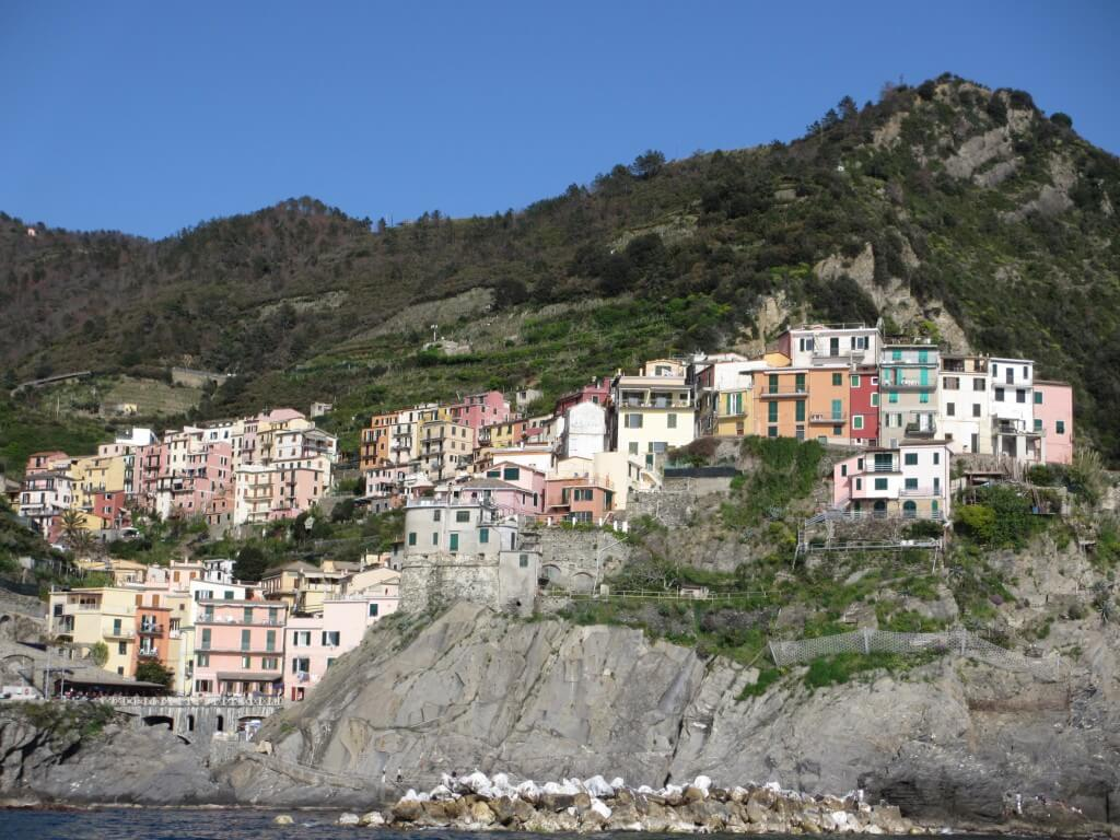 Our return to Manarola by ferry - Day trip Cinque Terre to Portofino