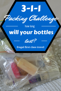 3-1-1 packing challenge. How long will your bottles last?