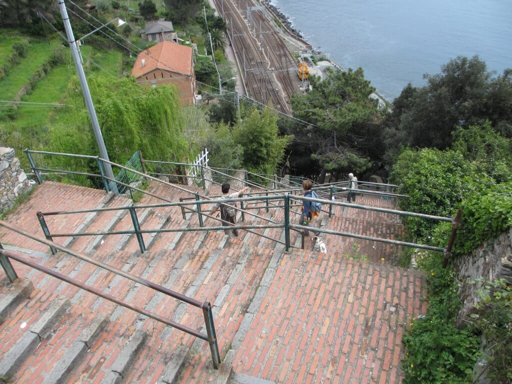 The stairs back from Corniglia are gentle, with plenty of rest spots