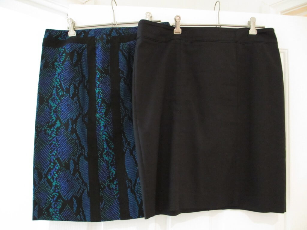 Two skirts, and two pants trans seasonal packing list