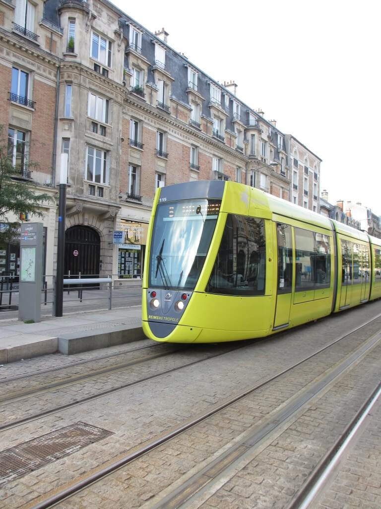 Citadine tramway in Reims France, how to make a day trip to Reims