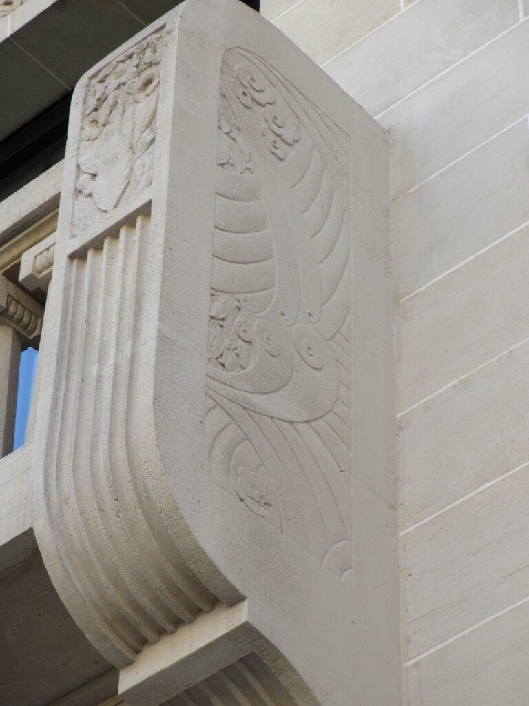 Art Deco details Carnegie Library Reims France