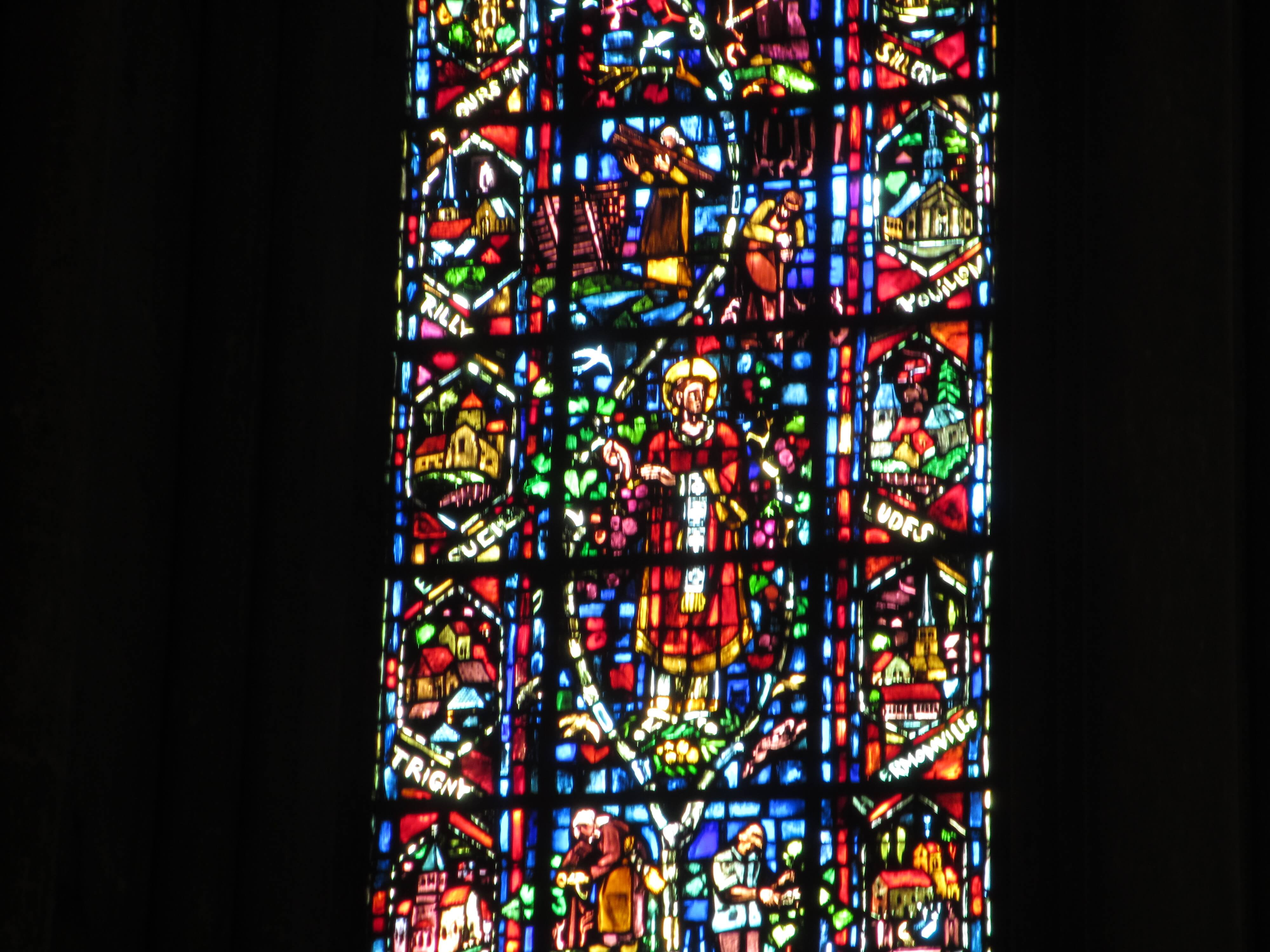 One of three transept windows, built after WW1 in celebration of champagne