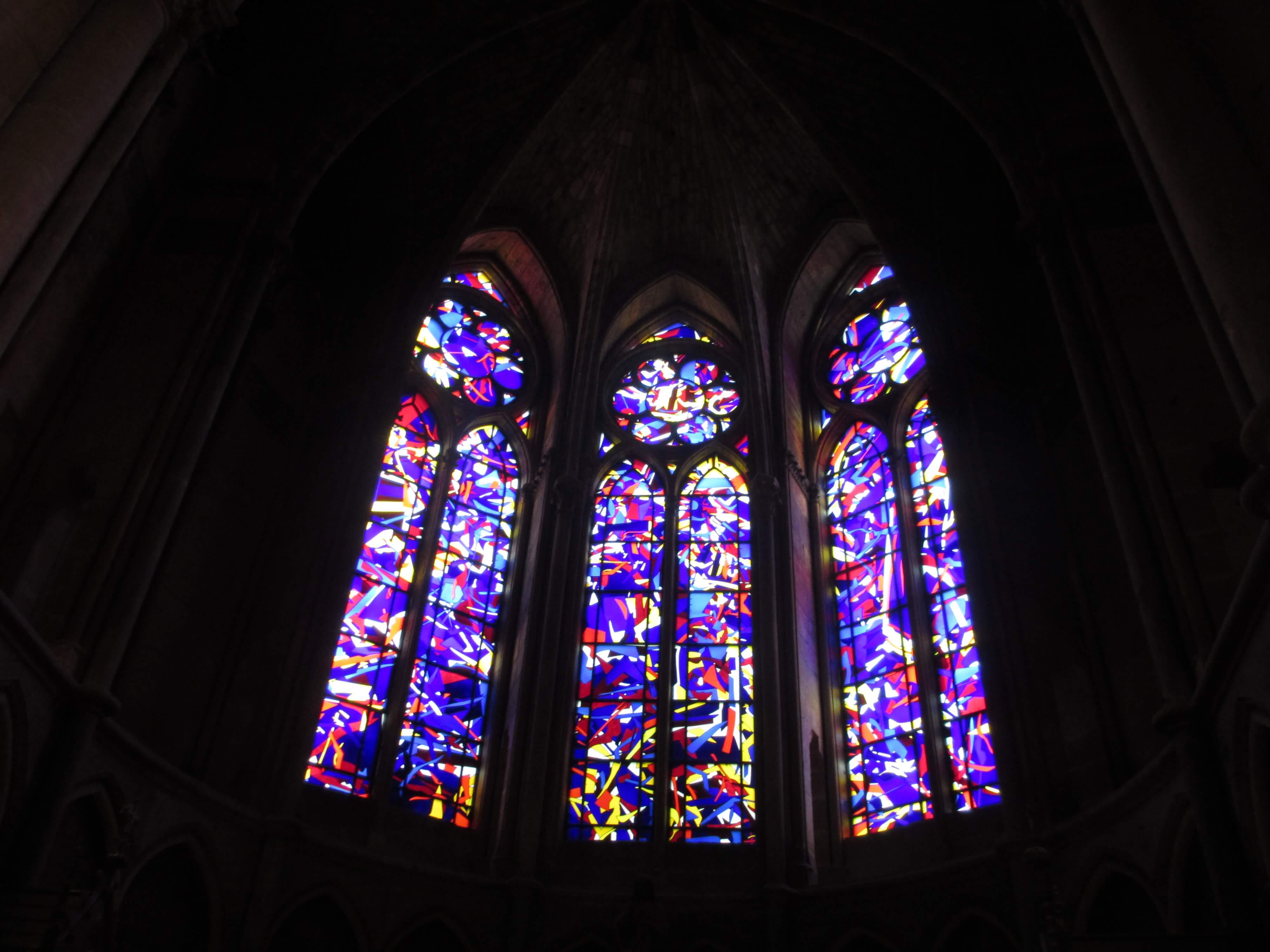 The modern windows designed by German Imi Knoebel