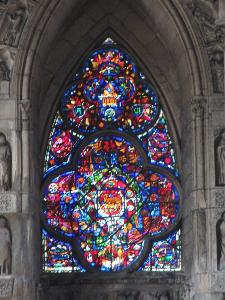 Stained glass window Reims Cathedral Reims France