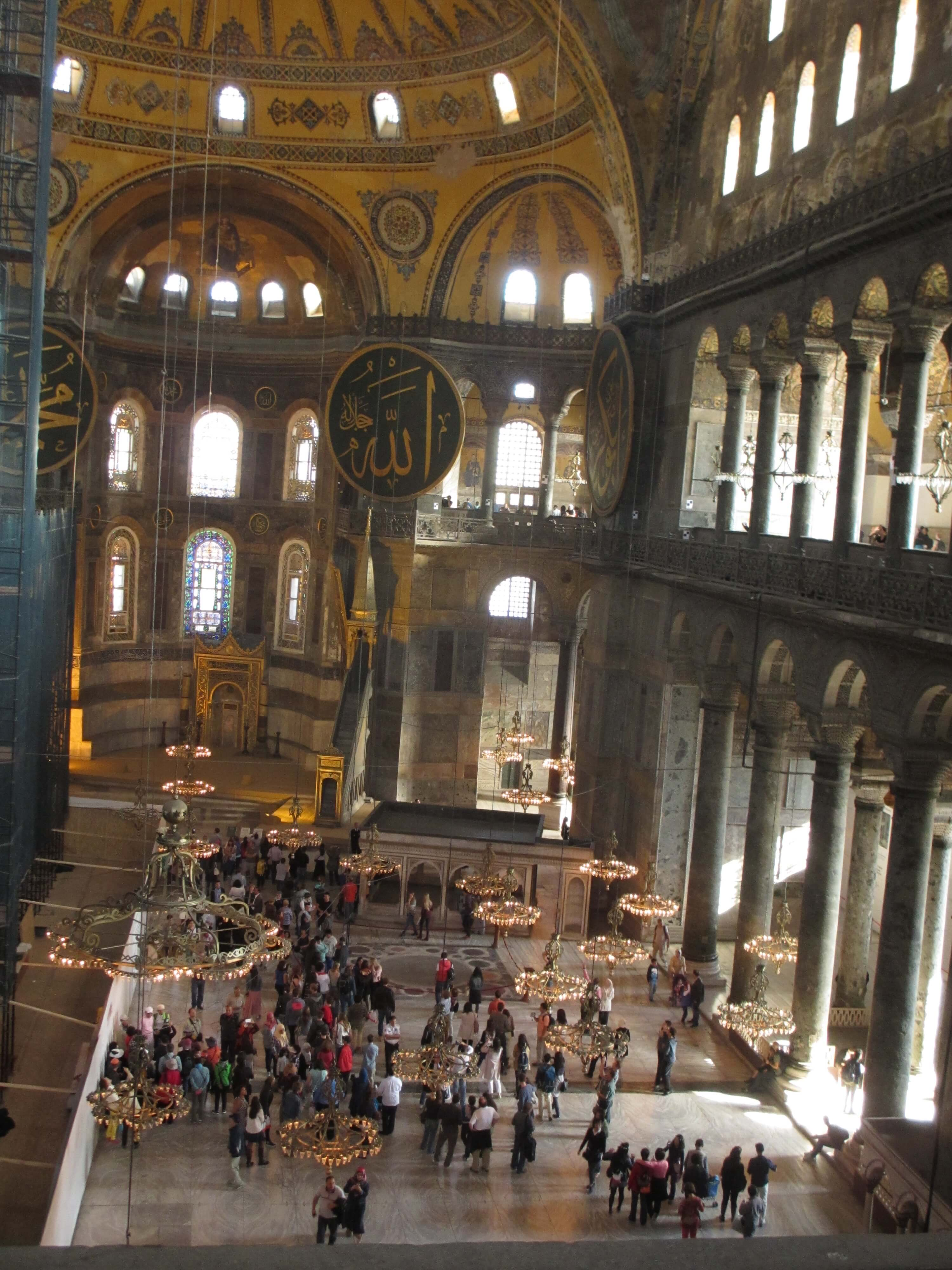 travel, travel tips, travel planning, a panoramic view of the interior of Hagia Sophia