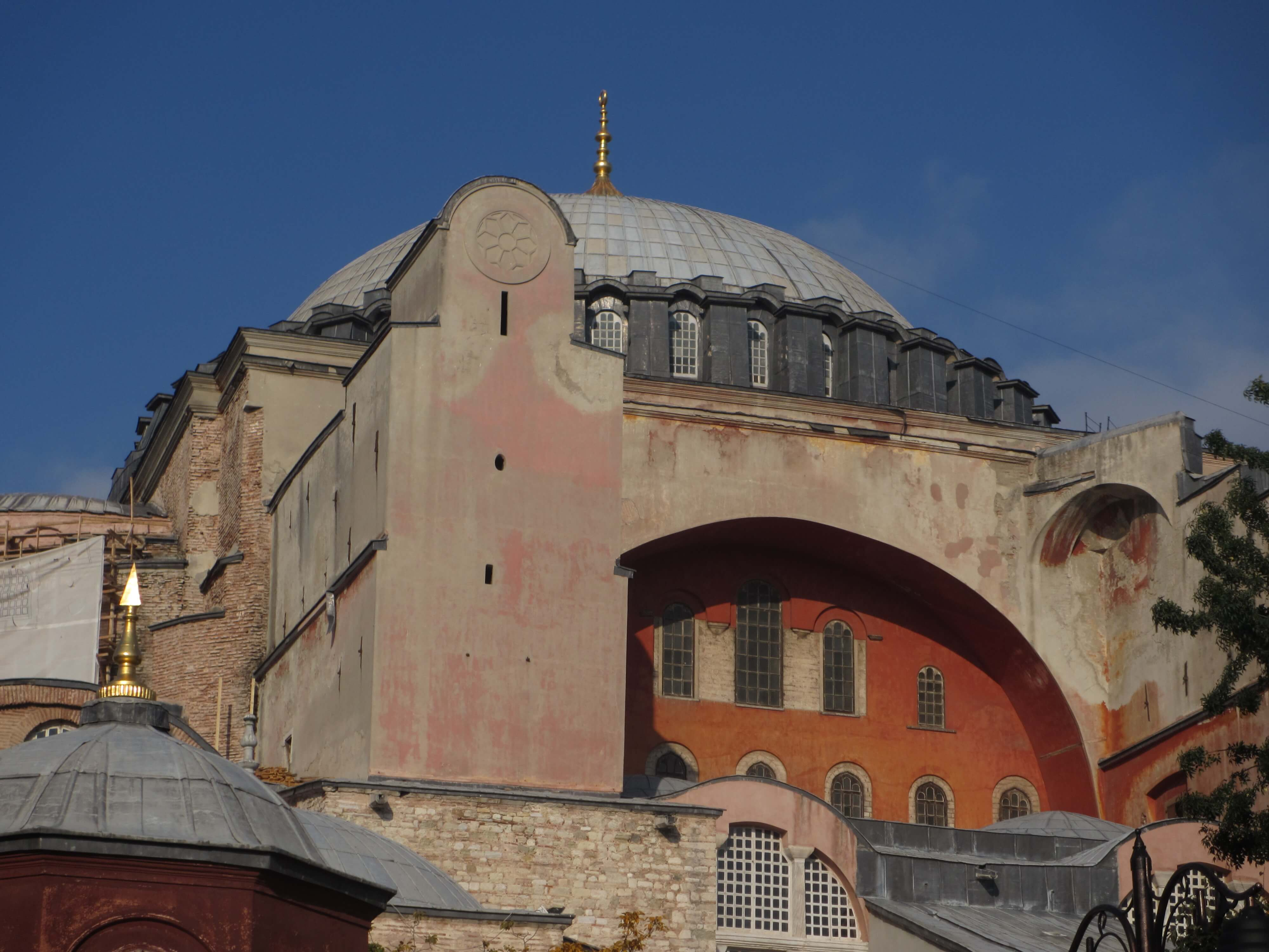domed arch of Hagia Sophia in Istanbul