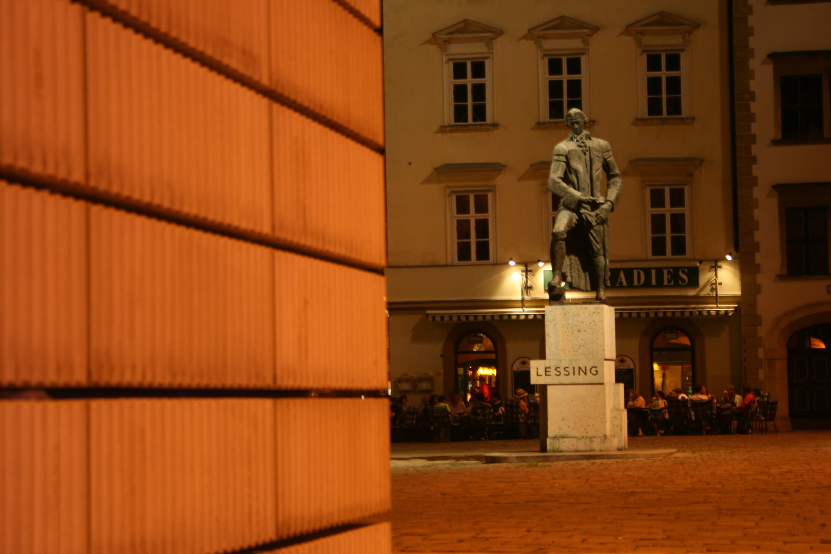 statue in a town square Vienna