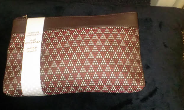 Etihad Airways business amenity kit