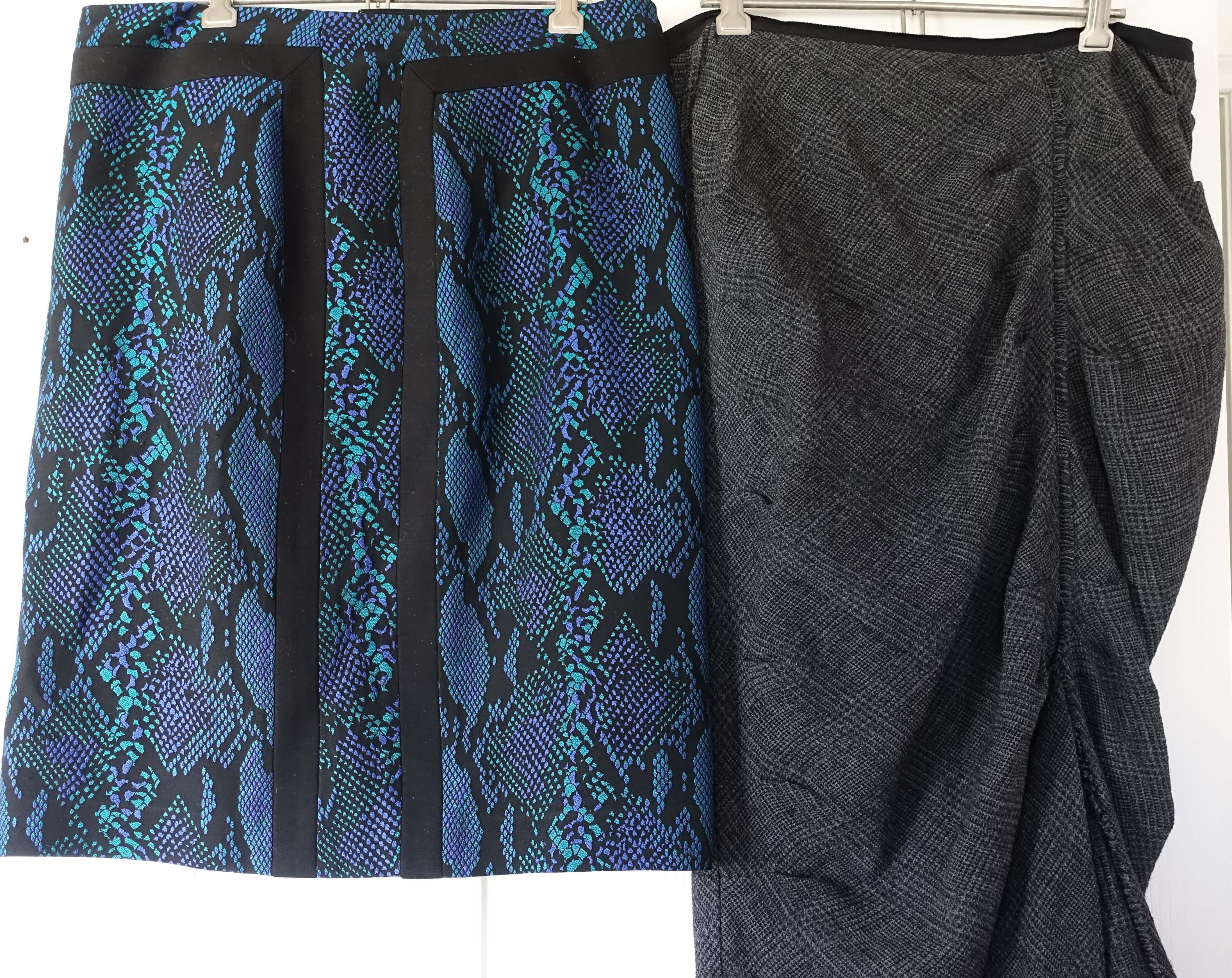 Grey Easton Pearson skirt and Dianne Von Furstenberg skirt
