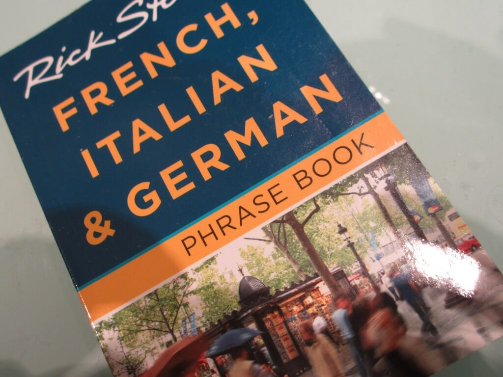 Rick Steves French, Italian and German phrase book