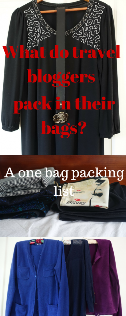 What do travel bloggers pack in their bags? A one bag travel blogger's packing list