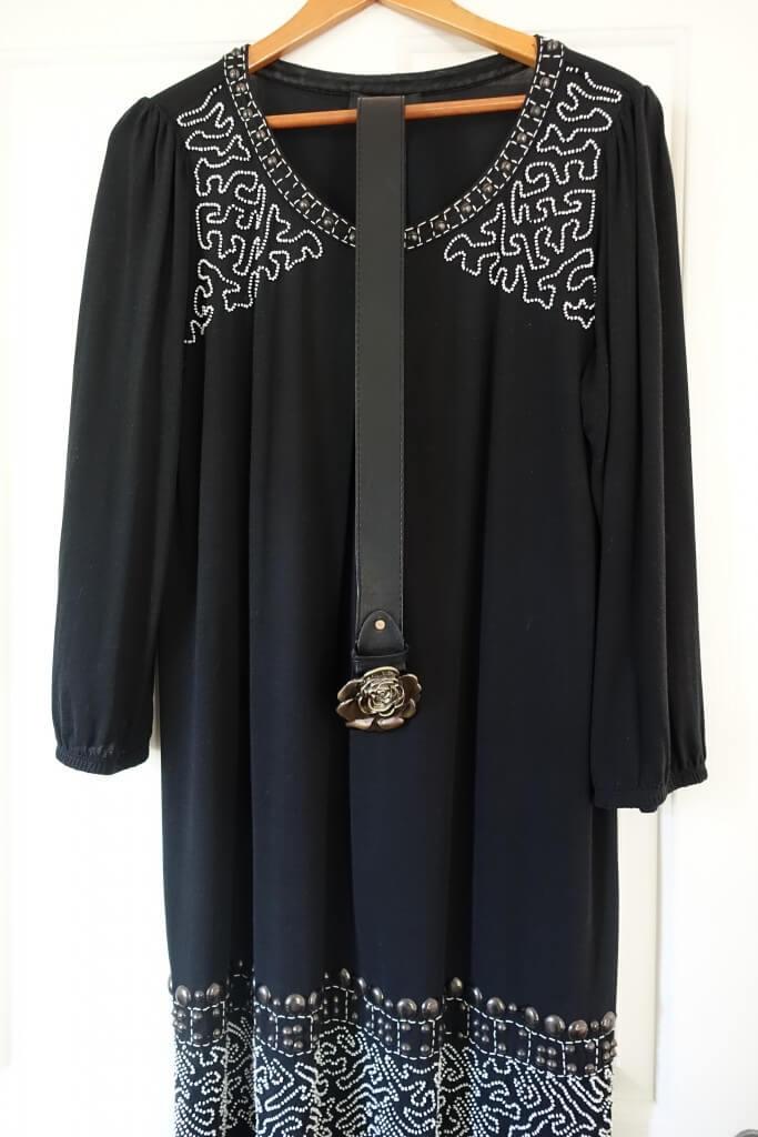 Black beaded Max Mara dress