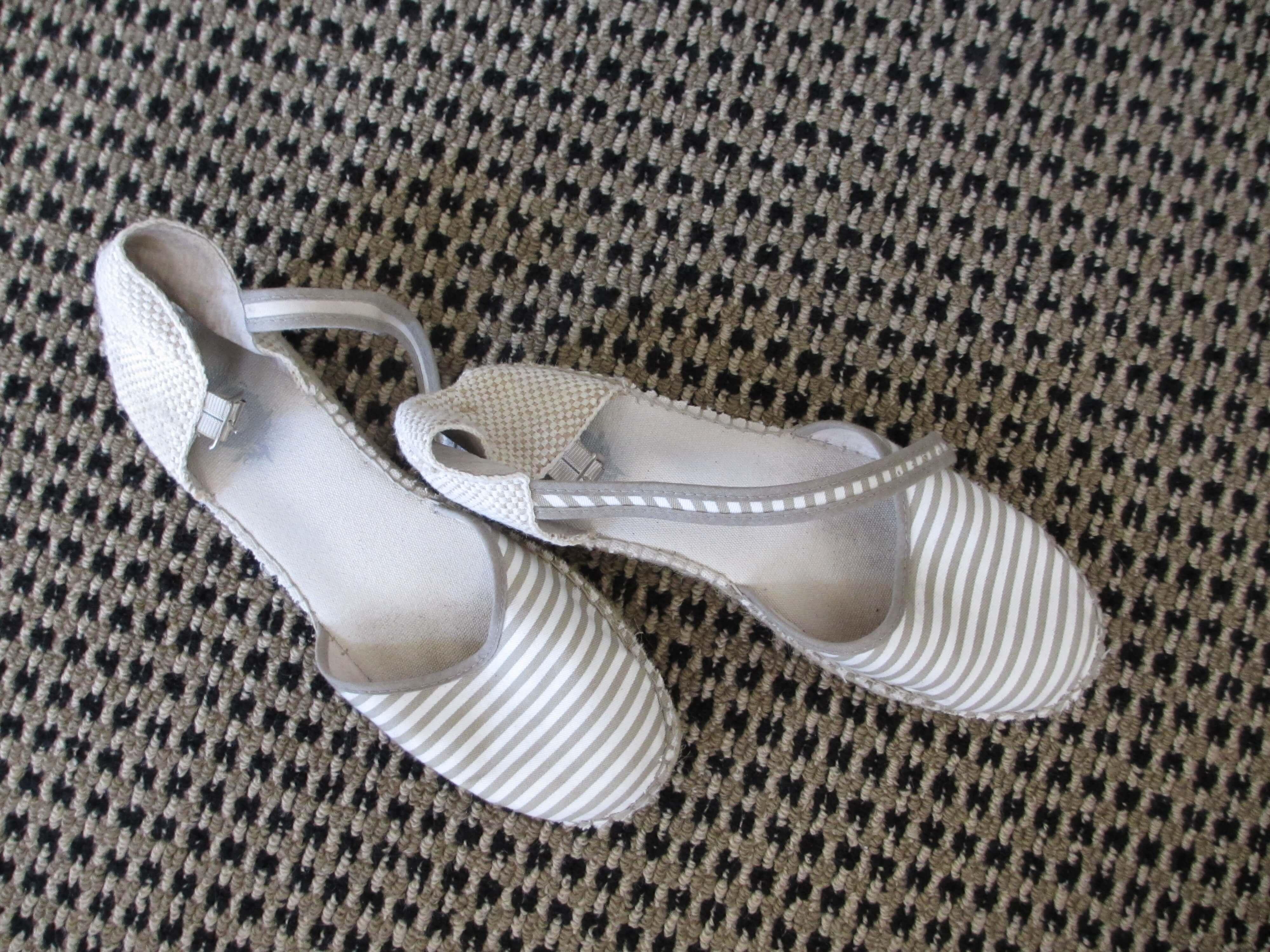 flat striped espadrilles