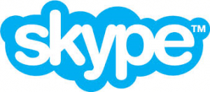 Skype blue cloud logo