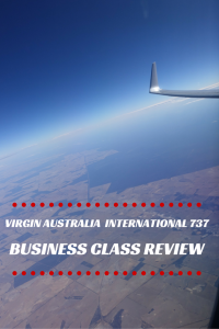Virgin Australia B737 International Business Class review