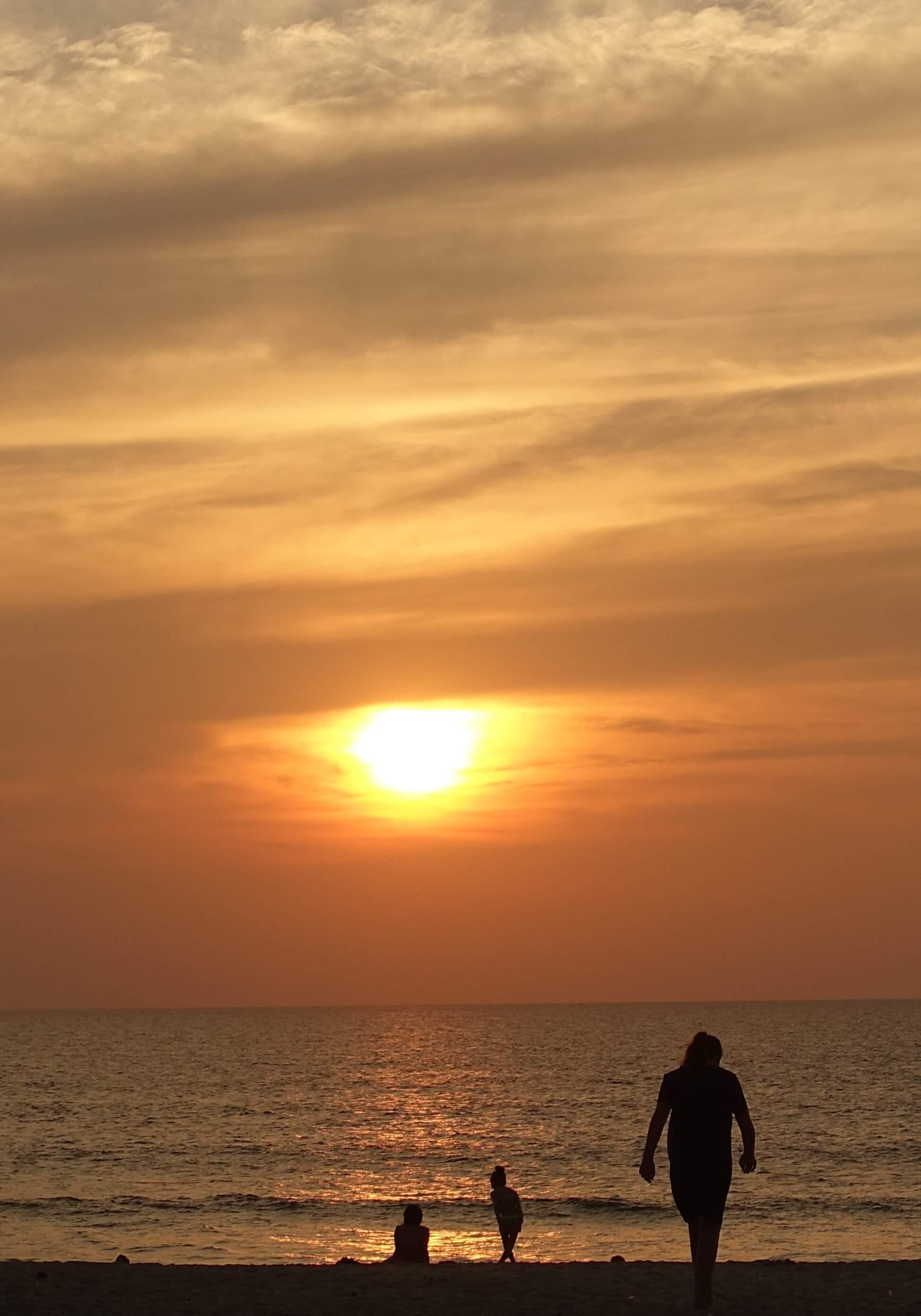 sunset at Bang Tao beach Phuket Thailand