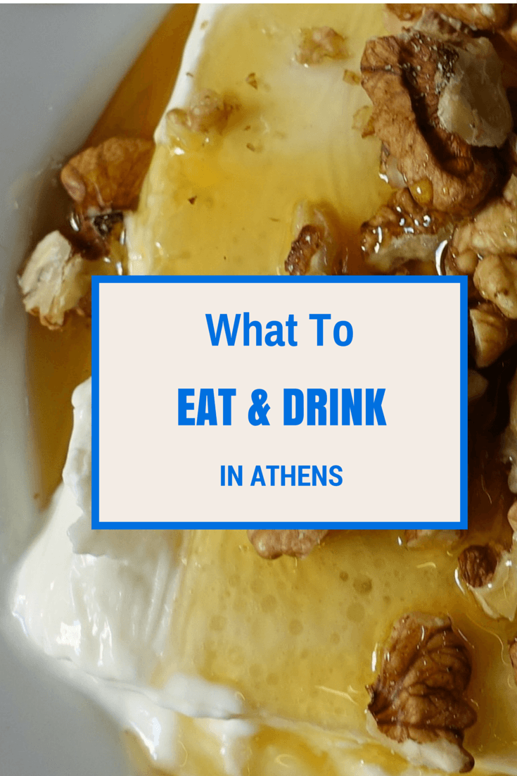 greek yoghurt on a white plate served with honey and walnuts on top