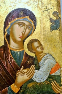 Greek Orthodox Madonna and Child - visiting Benaki Museum, Athens