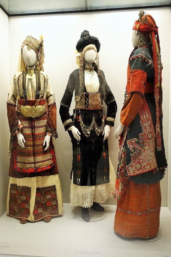 Three historic bridal costumes - visiting the Benaki Museum, Athens