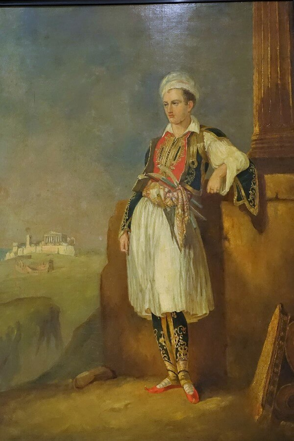 Portrait of Lord Byron - visiting the Benaki Museum