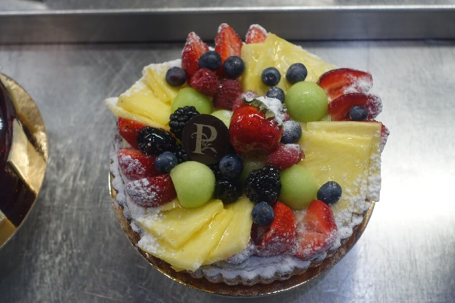 French tart with mixed fruit on top