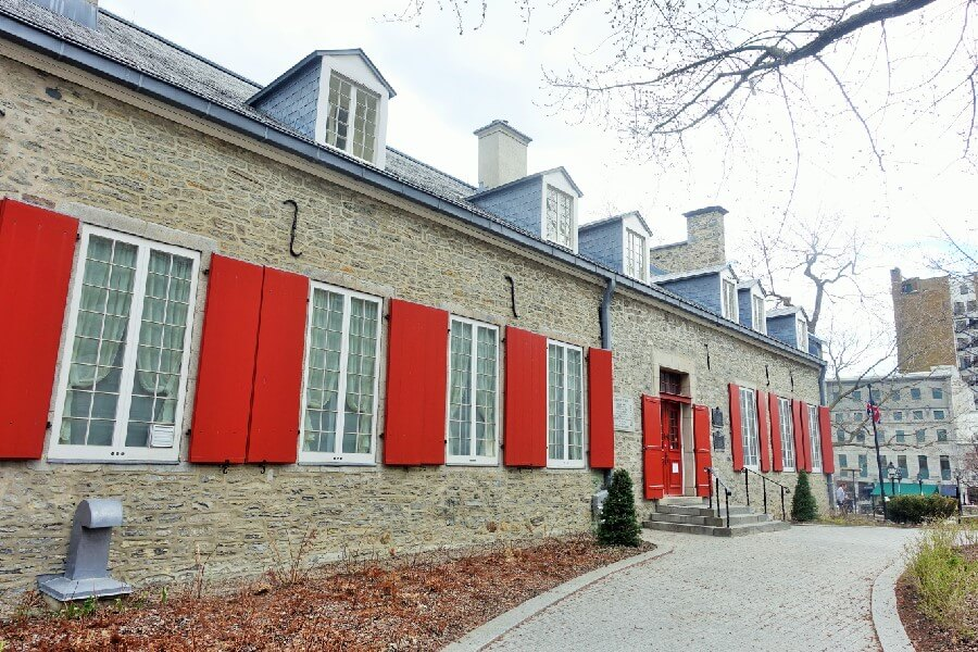 exterior of Chateau Ramezay a A French Chateau in Montreal