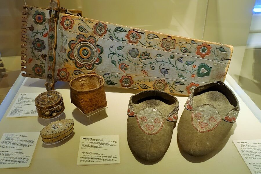 Inuit artefacts at Chateau Ramezay a A French Chateau in Montreal