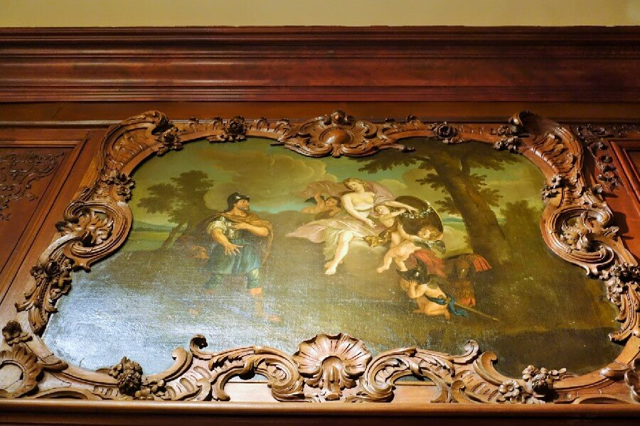 wall frieze at Chateau Ramezay a A French Chateau in Montreal