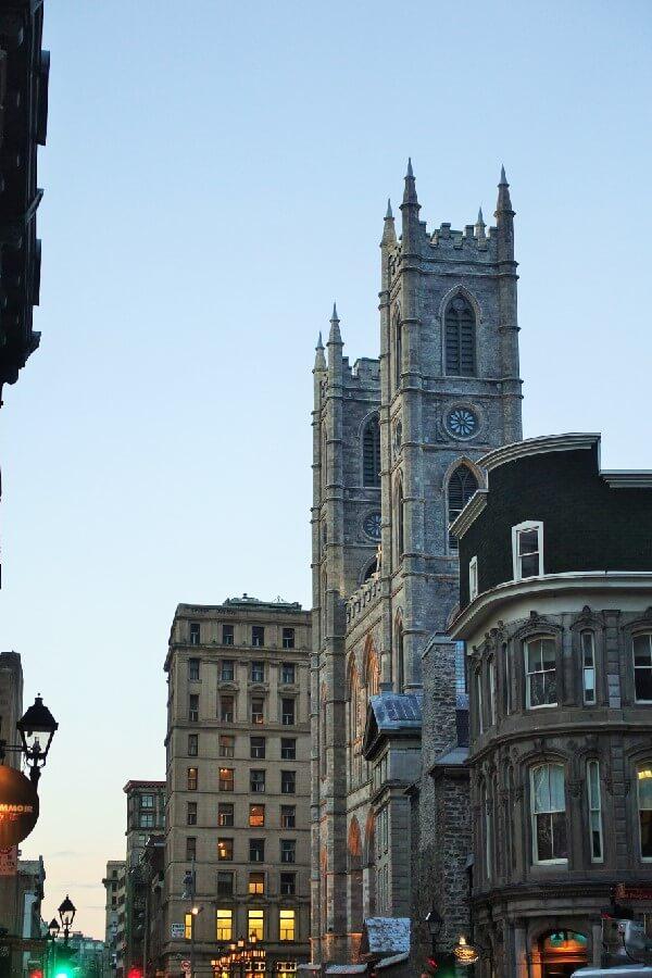 Spires of Basilique Notre Dame Montreal