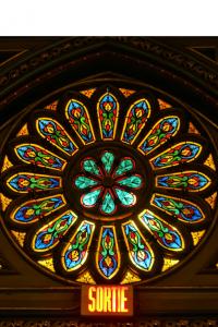Rose window detail at