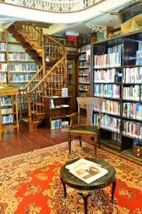 A traditional English library in Quebec City first class travel