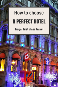 How to choose a hotel