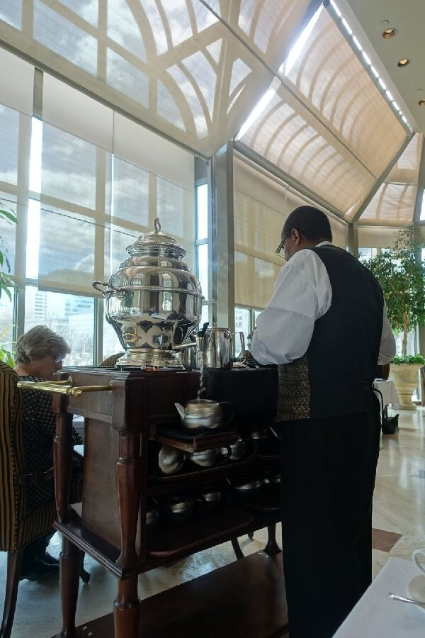 Afternoon Tea at the Fairmont Chateau Laurier, Ottawa. The Tea Sommelier