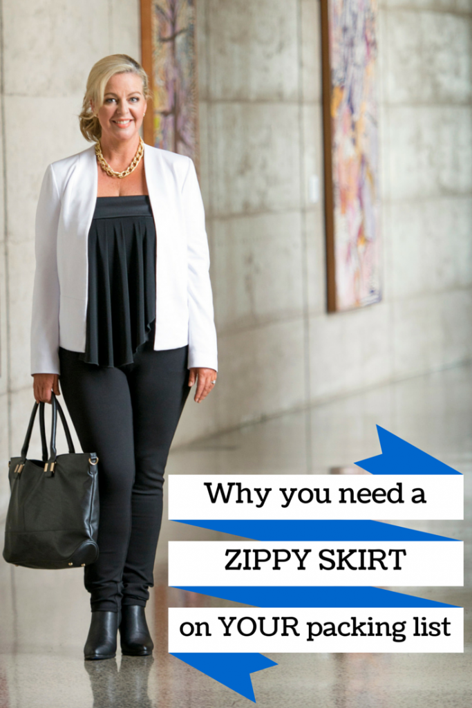 Zippy Skirts are the perfect travel skirt for packing light.