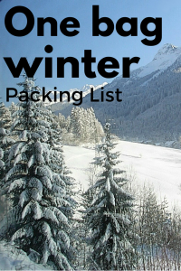 One bag packing list for Europe in winter