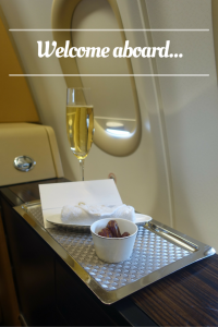 Welcome aboard Etihad First Class