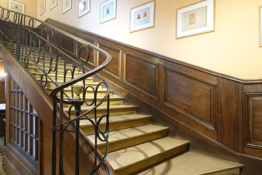 Three free museums in Paris you need to visit - stairs to the Victor Hugo Museum