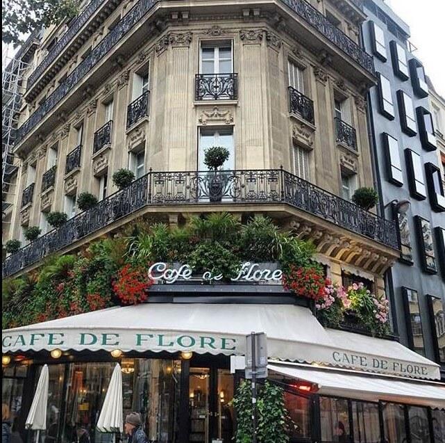 The iconic Cafe Flore Paris