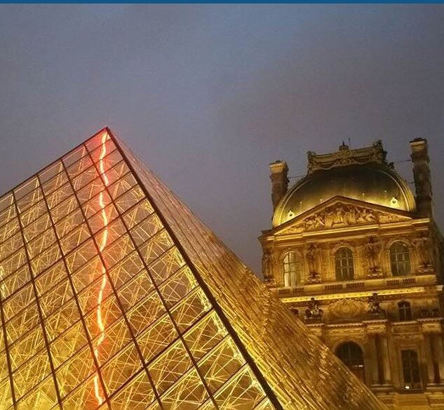 The Louvre at twilight