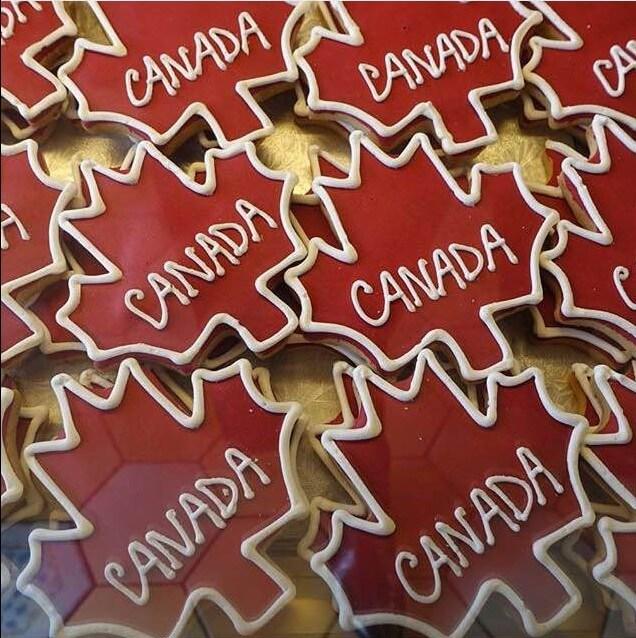 Maple leaf cookies, Ottawa Canada