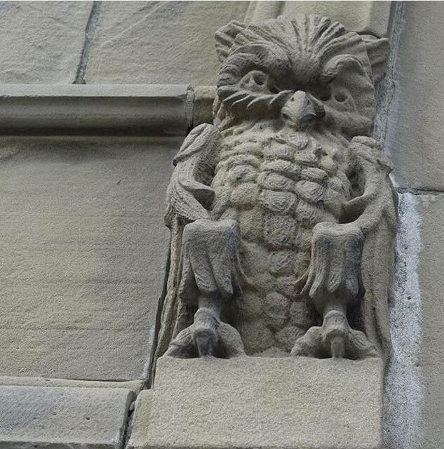 Owl details on the Canadian parliament building Ottawa