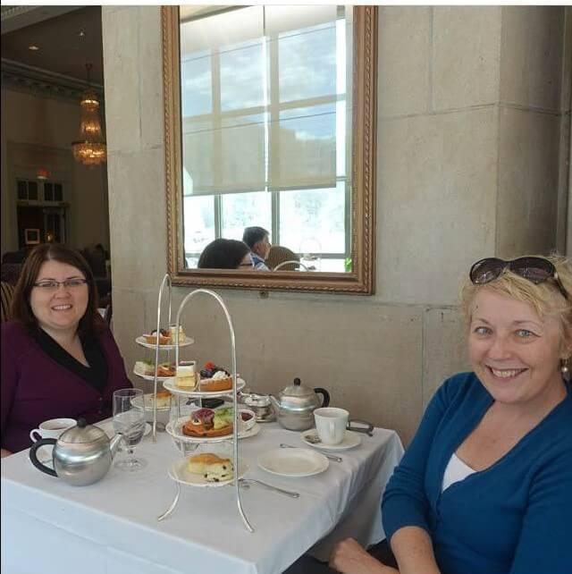 Taking tea at the Fairmont